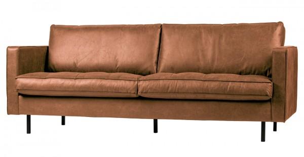 BePureHome 2,5 Sitzer Sofa Rodeo Classic Cognac Ledersofa