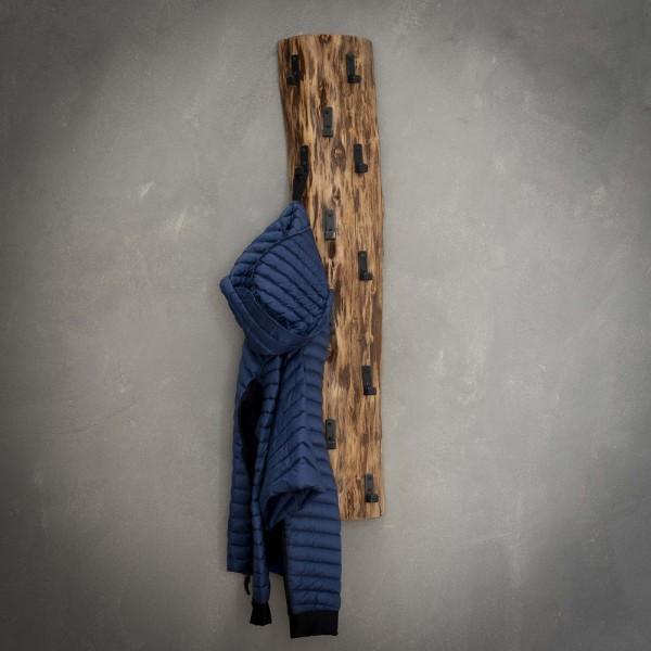 Wandgarderobe Hängegarderobe Baumstamm H 100 cm Akazie