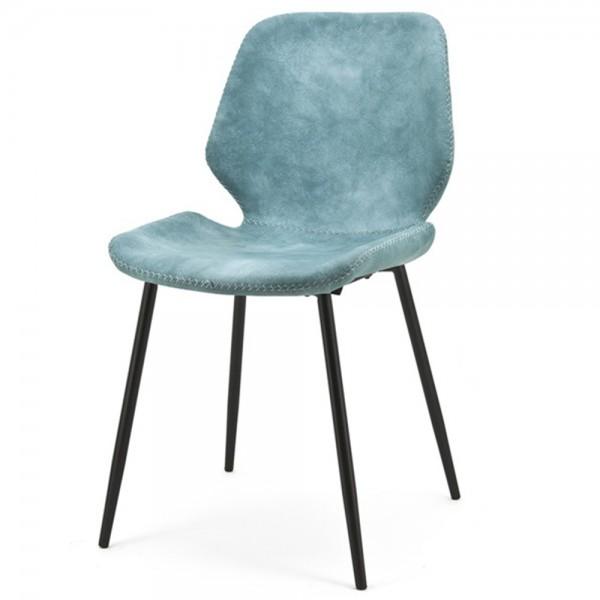 2er Set Esszimmerstuhl Seashell blau Stuhl