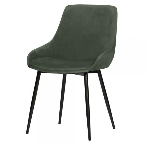 2er Set Esstischstuhl Selin Samt blassgrün Stuhl