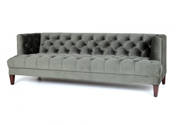 3-Sitzer Sofa VOGUE grün Samt Velour Couch Samtsofa