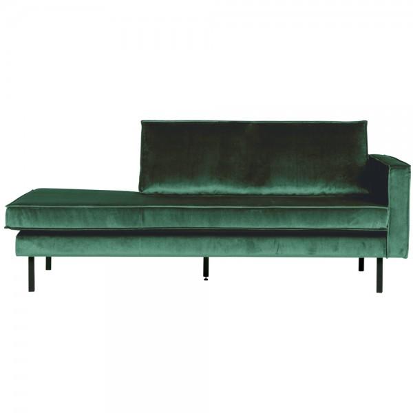 Sofa Chaiselongue RODEO Recamiere Samt waldgrün rechts Tagesbett