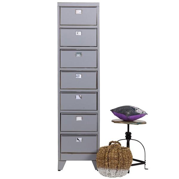 klappladenschrank 39 max 39 hochkommode metall vintage grau. Black Bedroom Furniture Sets. Home Design Ideas