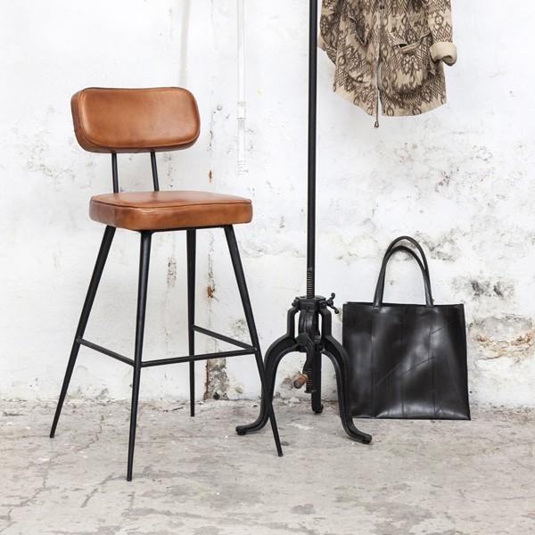 Vintage barhocker bar hocker stuhl gepolstert sh 75 cm for Retro barhocker mit lehne