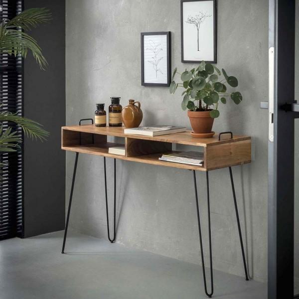 Sideboard 115 cm MONTO Konsole Telefontisch aus Holz Akazie Schminktisch