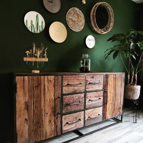 Industrie Sideboard LOI 180 cm recyceltes Holz