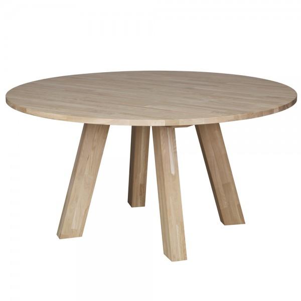 Esstisch RHONDA Holztisch Tisch Ø 150 Massivholz Küchentisch Eiche natur