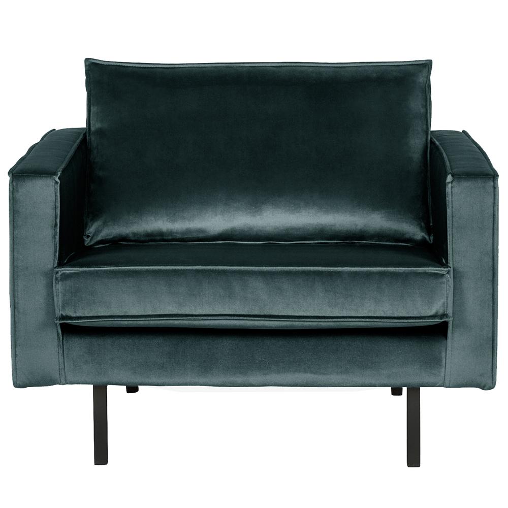 1 5 Sitzer Sessel Rodeo Samt blaugrün Lounge Armlehnsessel