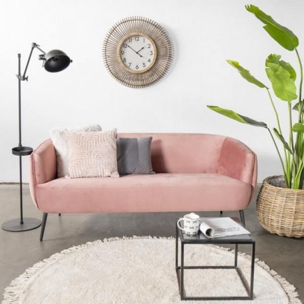 Giga 3 Sitzer Sofa Joas rosa 179 cm Samt Sitzbank
