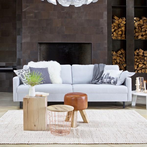 3 Sitzer Sofa NOA Lounge Couch Garnitur Couchgarnitur Sofagarnitur hellgrau