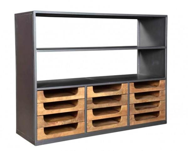 Schublade Als Regal ~ Industrie design regal schrank mit schubladen holz buffet 145 cm