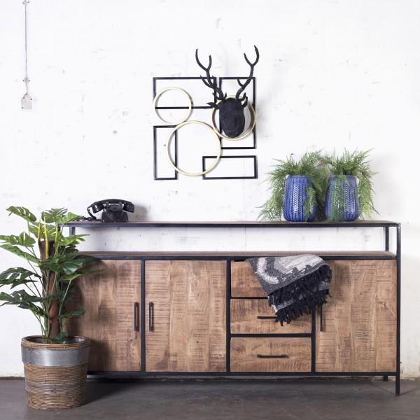 Industrie Kommode Henk 180 cm 3 Türen Sideboard