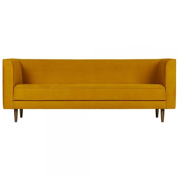 vtwonen 3 Sitzer Sofa Studio Samt ocker 220 cm Samtcouch Couch