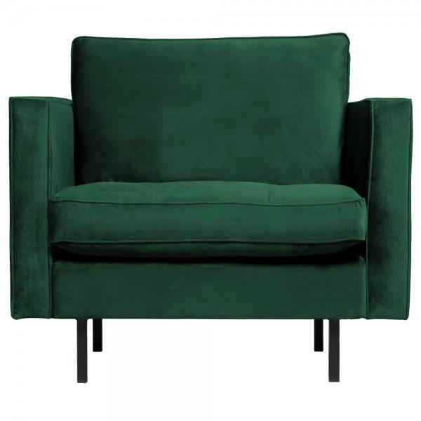 1,5 Sitzer Sessel Rodeo Classic Samt waldgrün Lounge Armlehnsessel Fernsehsessel