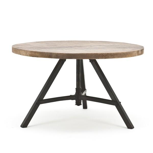 BY-BOO Couchtisch Beistelltisch Discus rund Ø 70 cm Mango Holz