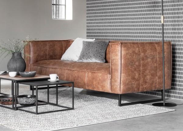 DTP Home 3-Sitzer Sofa Thames 224 cm Leder cognac