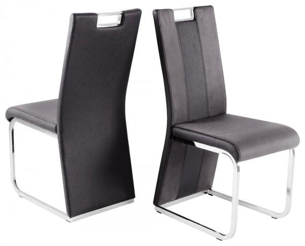 Stuhl BARI III Hochlehner schwarz grau