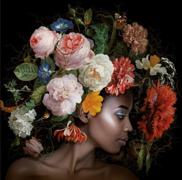 Bild Gemälde Alu Art 100 x 100 Flower Power no. 6 Eva