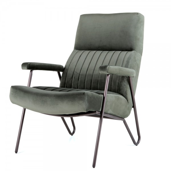 Armlehnsessel WILLIAM Samtbezug Sessel Relaxsessel Fernsehsessel Loungesessel