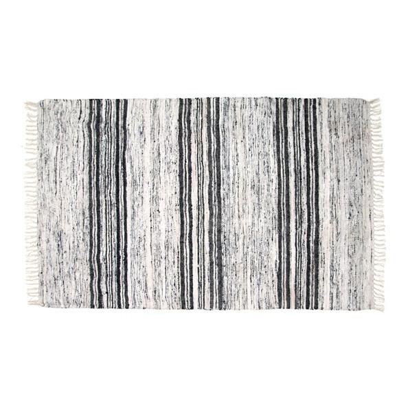 Seiden Teppich 120 x 180 cm schwarz weiß