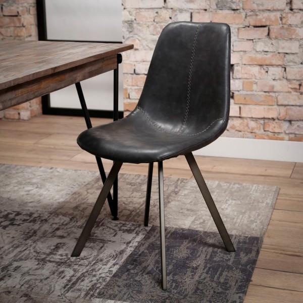 Esstischstuhl SADDLE schwarz Stuhl
