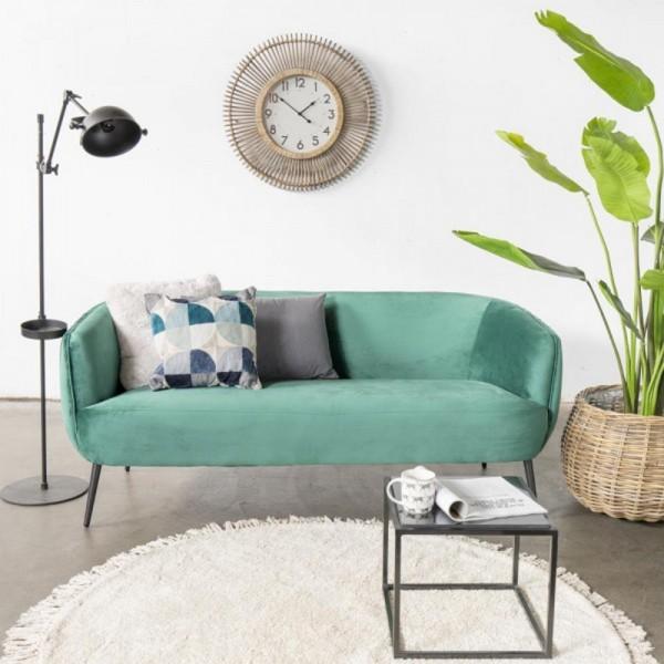 3 Sitzer Sofa Joas grün 179 cm Samt Sofabank Küchensofa