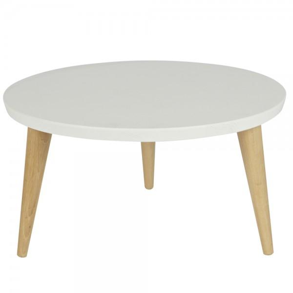 Beistelltisch Couchtisch ELIN Ø 60 cm Tisch Kaffeetisch Anstelltisch Massivholz