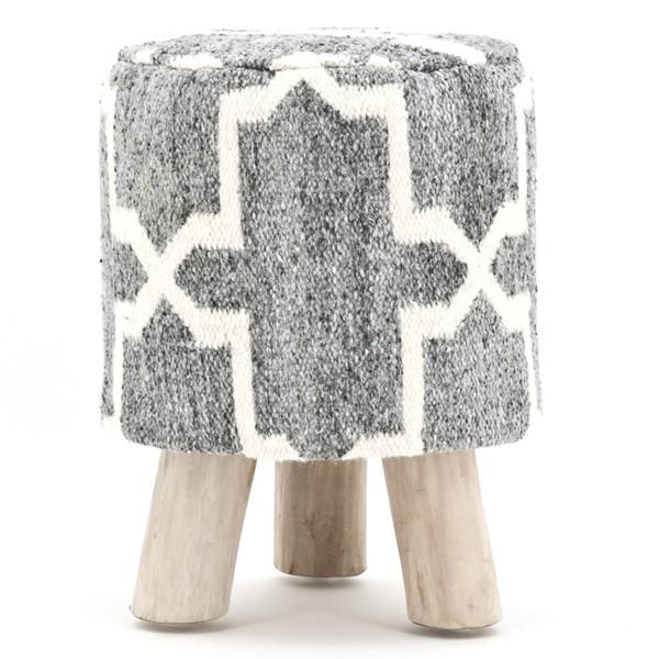 Sitzhocker PEARL grau Ø 33 cm