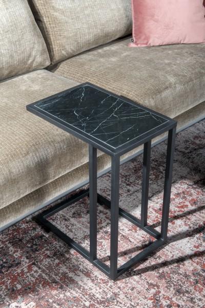 Bestelltisch Marble H 56 cm Metall Marmor schwarz Laptoptisch Anstelltisch