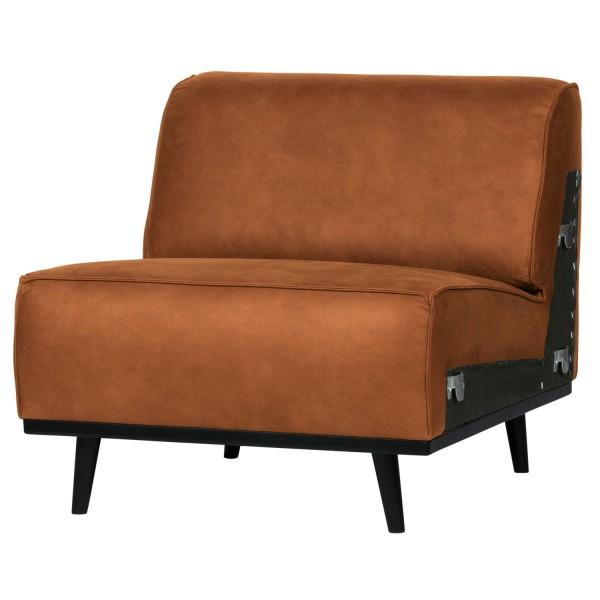 BePureHome 1 Sitzer Sessel Element Erweiterung Statement Eco Leder cognac