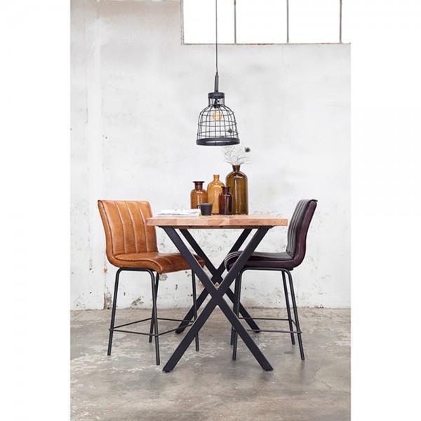 Industrie Bartisch WIGGE 140 x 80 cm H 90 cm Stehtisch Bistrotisch Bartresen Metall Holz
