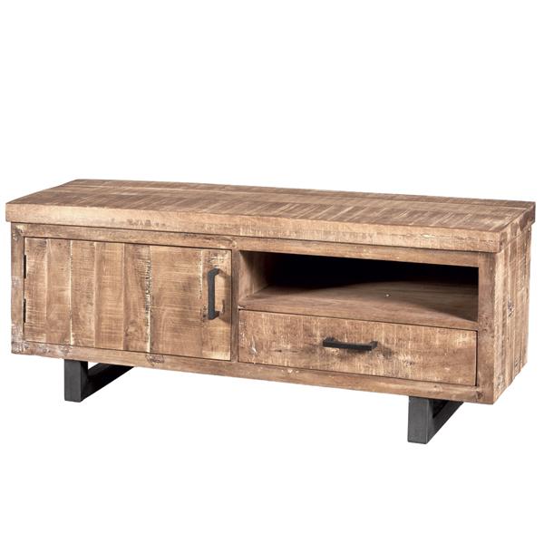 vintage landhaus tv m bel 1 t r und schublade lowboard tv. Black Bedroom Furniture Sets. Home Design Ideas