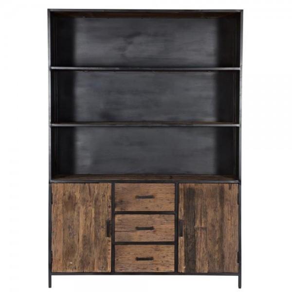 Schrank Dakota H 200 cm Bücherschrank Riverwood Metall schwarz Bücherregal