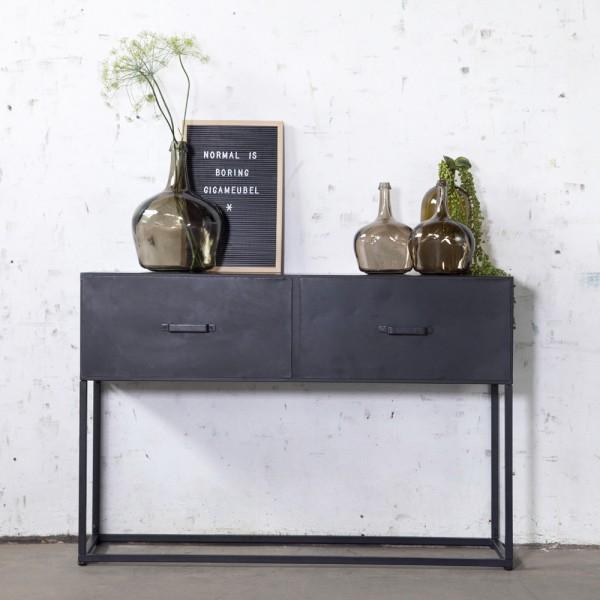 Industrie Konsole URBAN 120 cm schwarz Metall