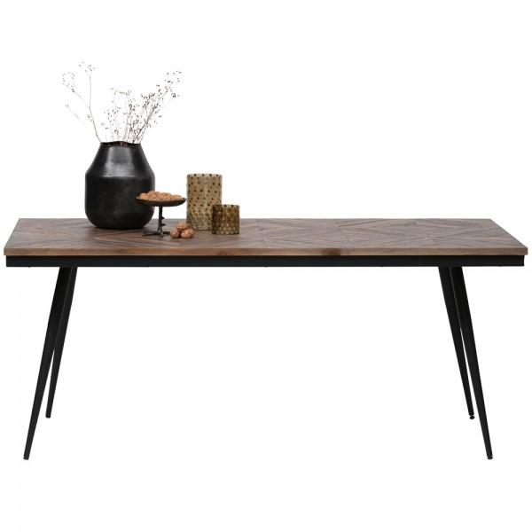 Esstisch Rhombic 180 x 90 cm Teak Holz Tisch