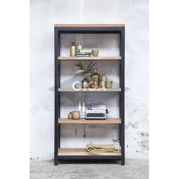 Vintage Regal JACK small schwarz Ablageregal Aufbewahrung Bücherregal Holz