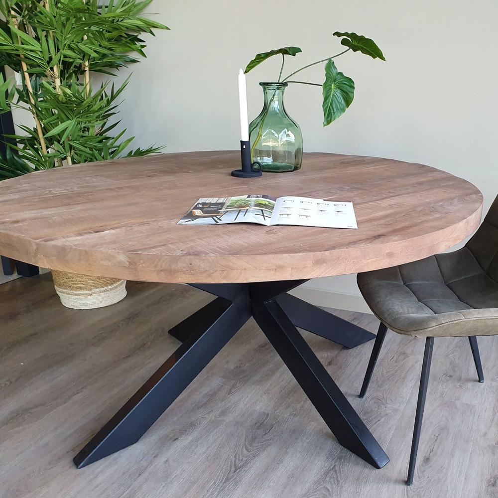 Esstisch Sturdy Ø 30 cm rund Mangoholz Dinnertisch Tisch