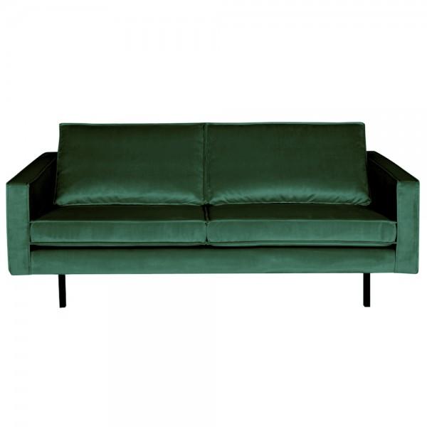 2,5 Sitzer Sofa Rodeo Samt grün