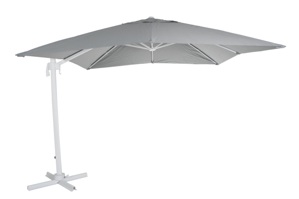 Sonnenschirm Ampelschirm Linz Ø 300 cm weiß grau