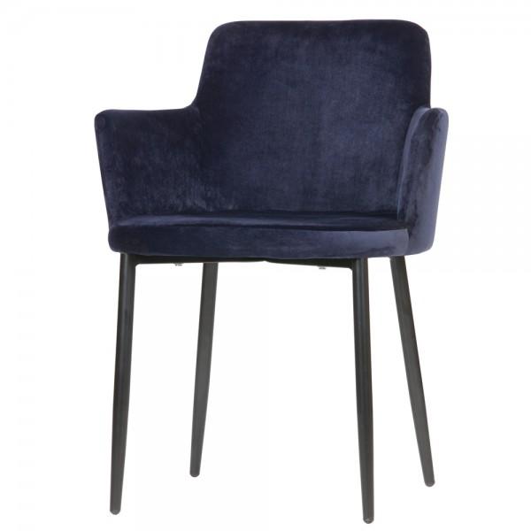 Esszimmerstuhl Tatum Armlehne Samt Vierfußstuhl Küchenstuhl Polsterstuhl Stuhl