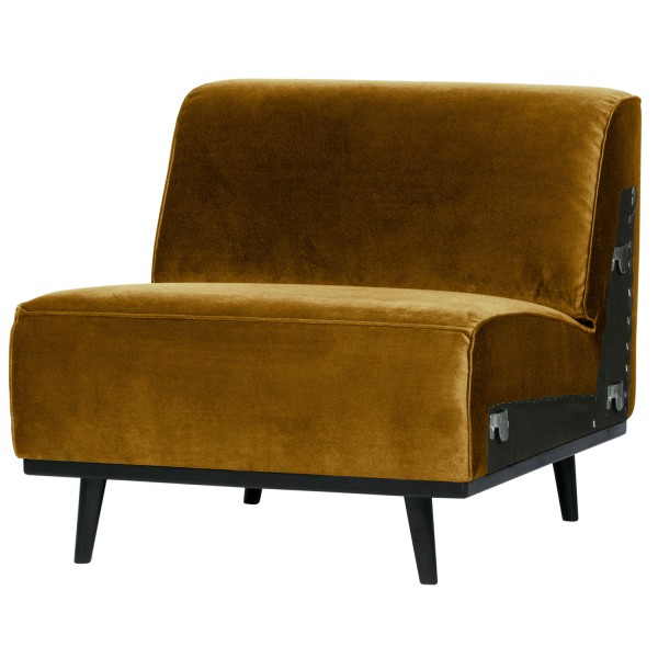 BePureHome 1 Sitzer Sessel Element Erweiterung Statement Samt honiggelb