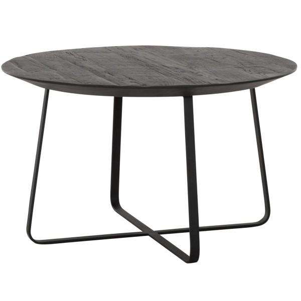 DTP Home Beistelltisch Neptunes Ø 60 cm schwarz Anstelltisch Kaffeetisch Massivholz Metall