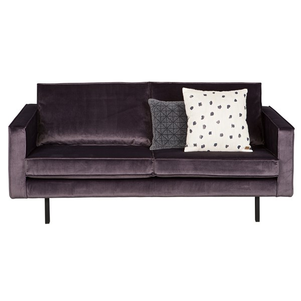 2,5 Sitzer Sofa RODEO Samt grau Lounge Couch Garnitur Loungesofa