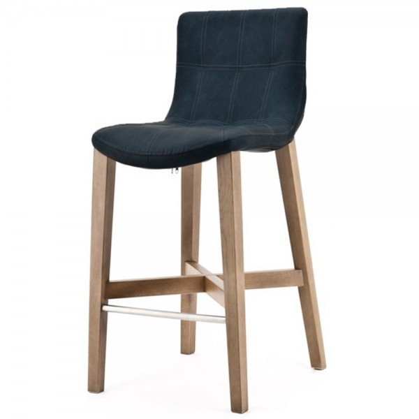 Sitzhöhe Barhocker barstuhl neba blau barhocker bar hocker stuhl holz stoff vintage