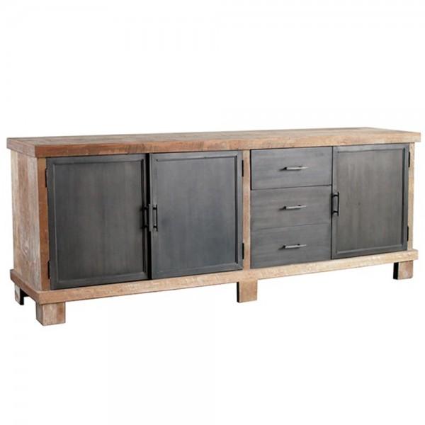 Sideboard Geneve 204 cm Kommode recycltes Teakholz