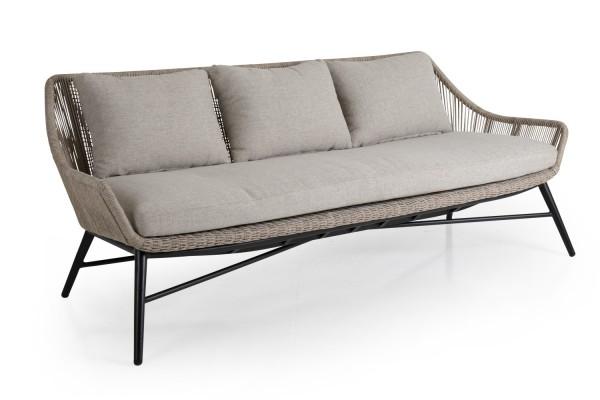 Lounge 3-Sitzer Gartenbank PEMBROKE Kunstrattan