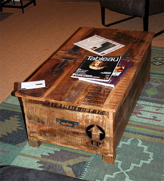 Couchtisch IRON Wohnzimmer Box Kiste  Couchtische