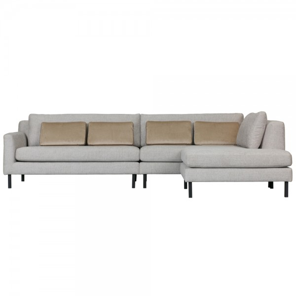 Eckgarnitur MEREL hellgrau Couch Sofa Garnitur Ecksofa Longchair rechts / links