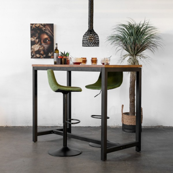 Industrie Bartisch Hochtisch Leev 140 x 70 cm Holz Metall Stehtisch