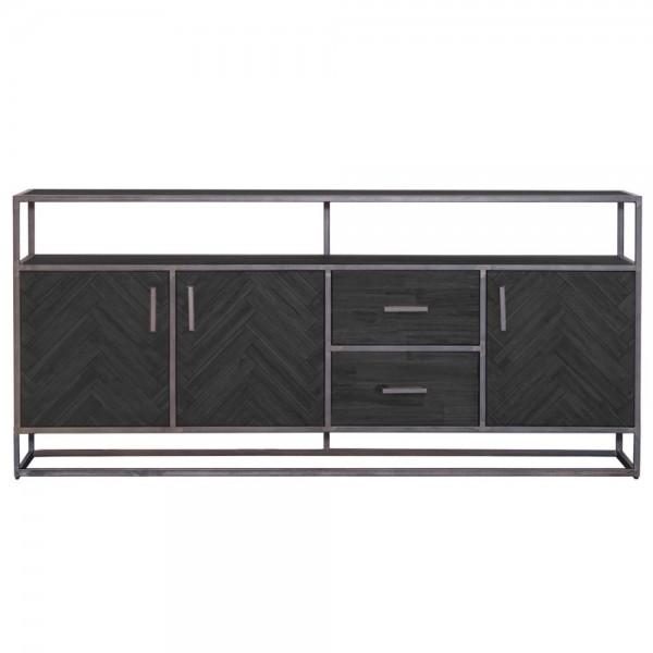 Sideboard Hudson 200 cm Akazie schwarz